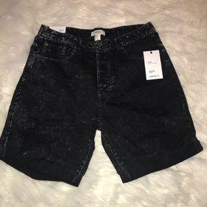 NWT forever 21 black acid wash high rise shorts